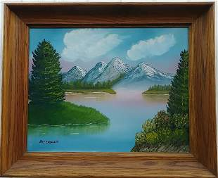 S Lung Park Canada Plain Air Oil Painting on Canvas Fra