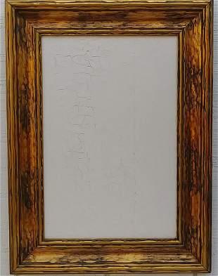 Italian Abstract Textura Painting Framed.
