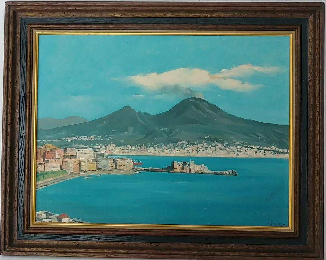 Vintage Boreau 1968 Plain Air Bayshore Oil Painting
