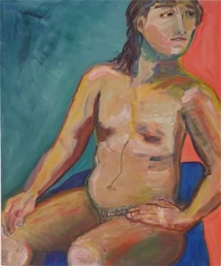 Peggy Comegys (Amer-Born) Original Figutative Painting
