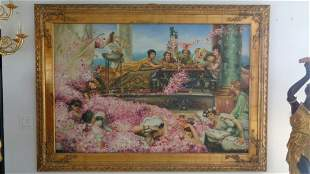XX Large Realism Lady Figures, Framed Painting