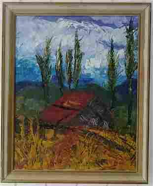 N York Hampton Cabin Oil Painting on Canvas Framed