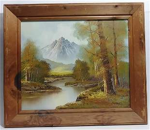 Hanrey Forest Mountain Lanscape Oil Painting