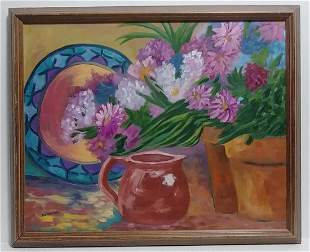 Senmens (Ame) Oil Painting Floral Still Life
