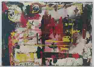 1951Manolo Millares Abstract Painting. Nº: 163
