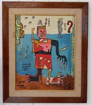Jean-Michele Basquiat -RADIUM- NYC Street Painting