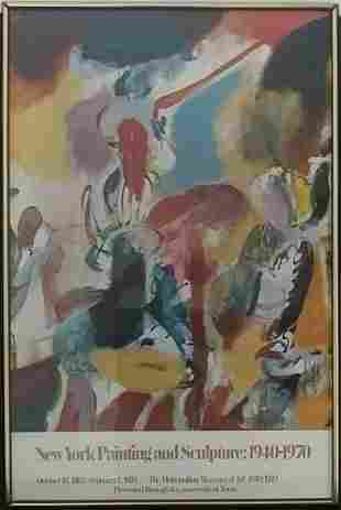 Vintage Original Arshile Gorky American Abstract Expres