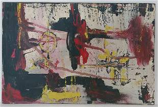 1951Manolo Millares Abstract Painting. Nº: 251
