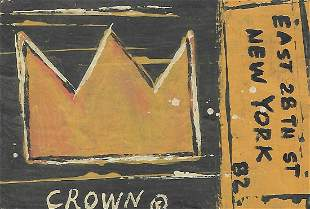 JMB Signed - SAMO CROWN - Painting Signed on Reverse