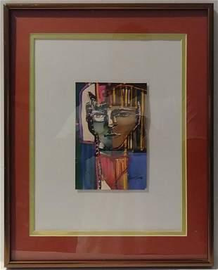 Original J. Rivera. Mixed Media Painting On Paper.