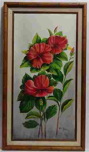 Paul. J Signed-Flower- Oil Painting on Canvas