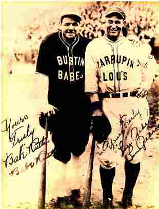 Baby Ruth Print of the Vintage Photo Signed
