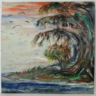 Florida Landscape Painting Signed