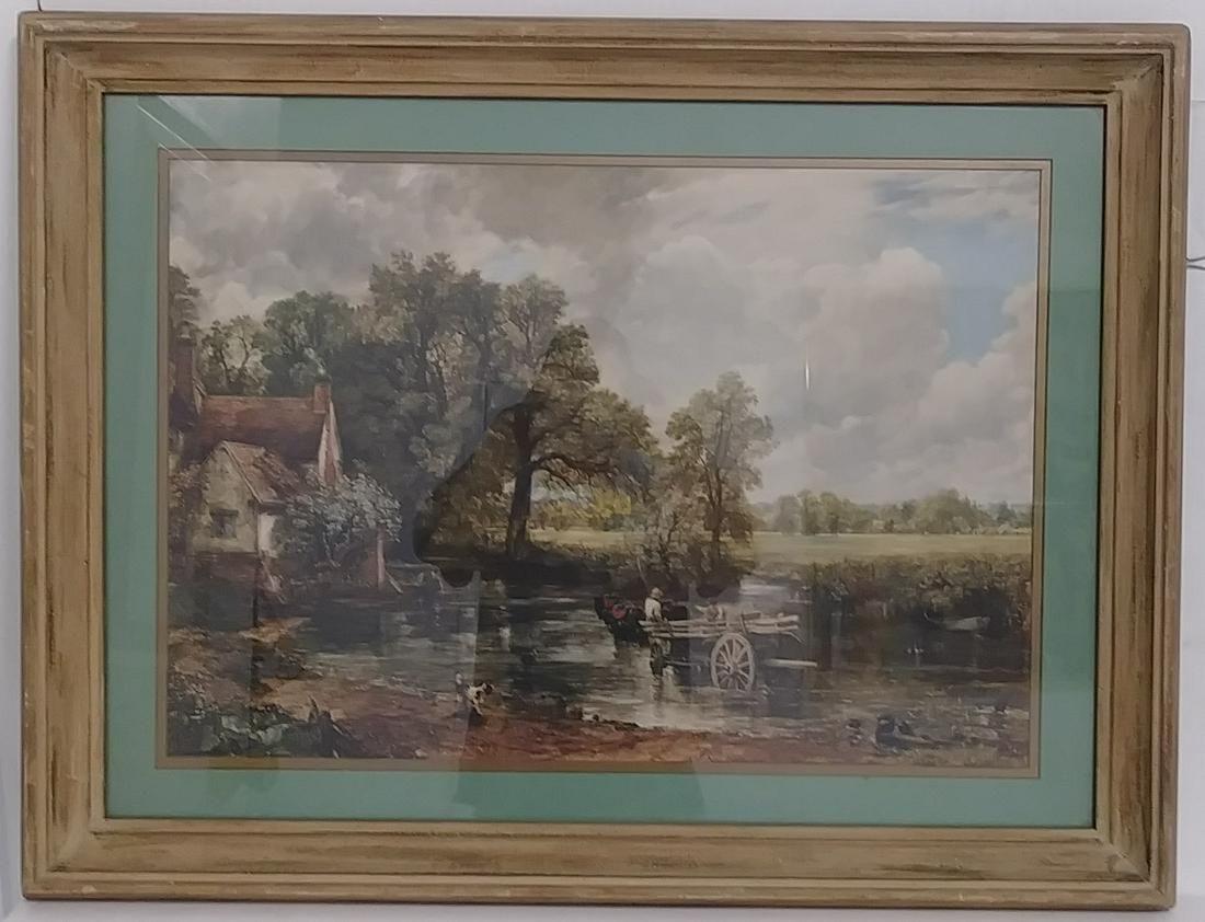 Vintage John Constable Framed Print ( Haywain)