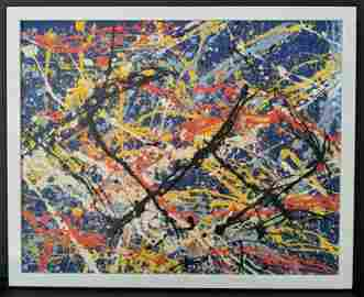 Jackson Pollock Abstract Painting on Canvas.