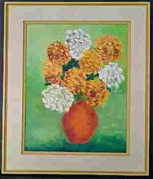 Bouquet of Flower Oil Painting Framed
