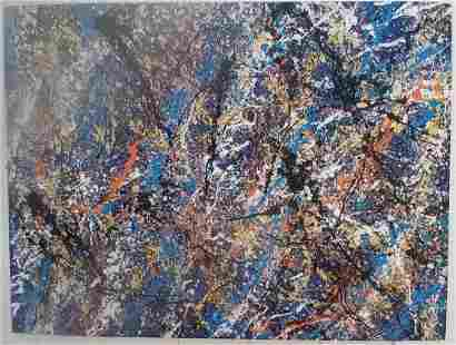 XXL JACKSON POLLOCK AFTER,ABSTRACT MODERNIST PAINTING