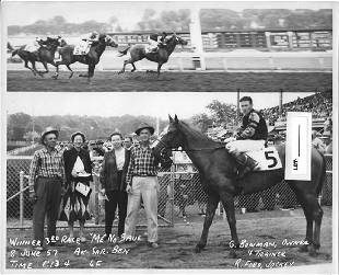 Winner Horse Racing Track 1950s And 60s.