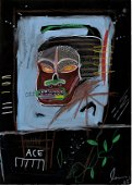 Neo Expressionist Jean Michel Basquiat Large Painting