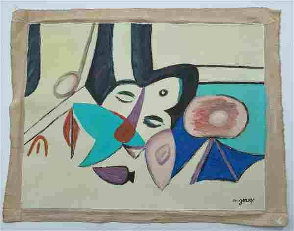 Signed Gorky Modern Art 20th Century Modern Painting