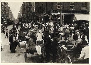 Postcard Hester Street New York 1898 Photo by Byron
