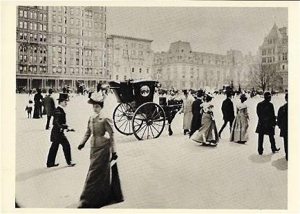 Vintage Postcard Fifth Ave Plaza 58 St NY Photo By Byro