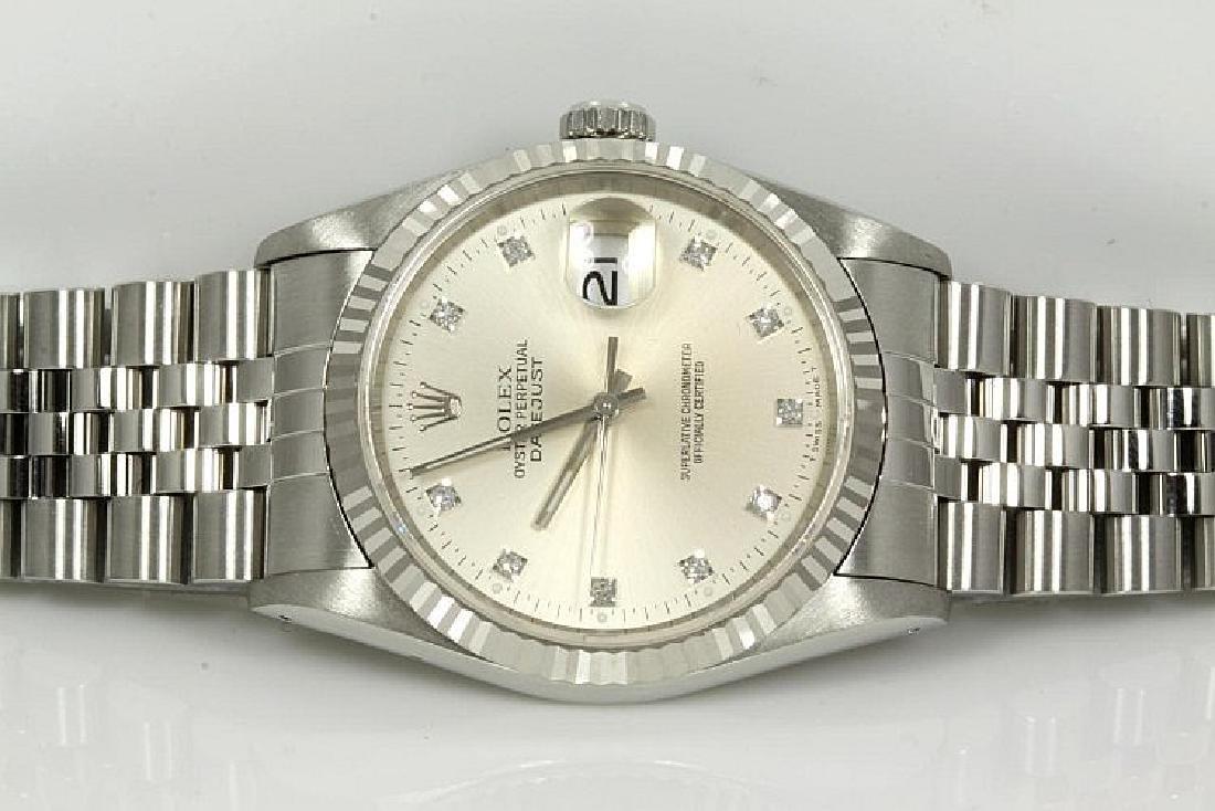 Rolex Datejust Diamond Mens Watch 16234G