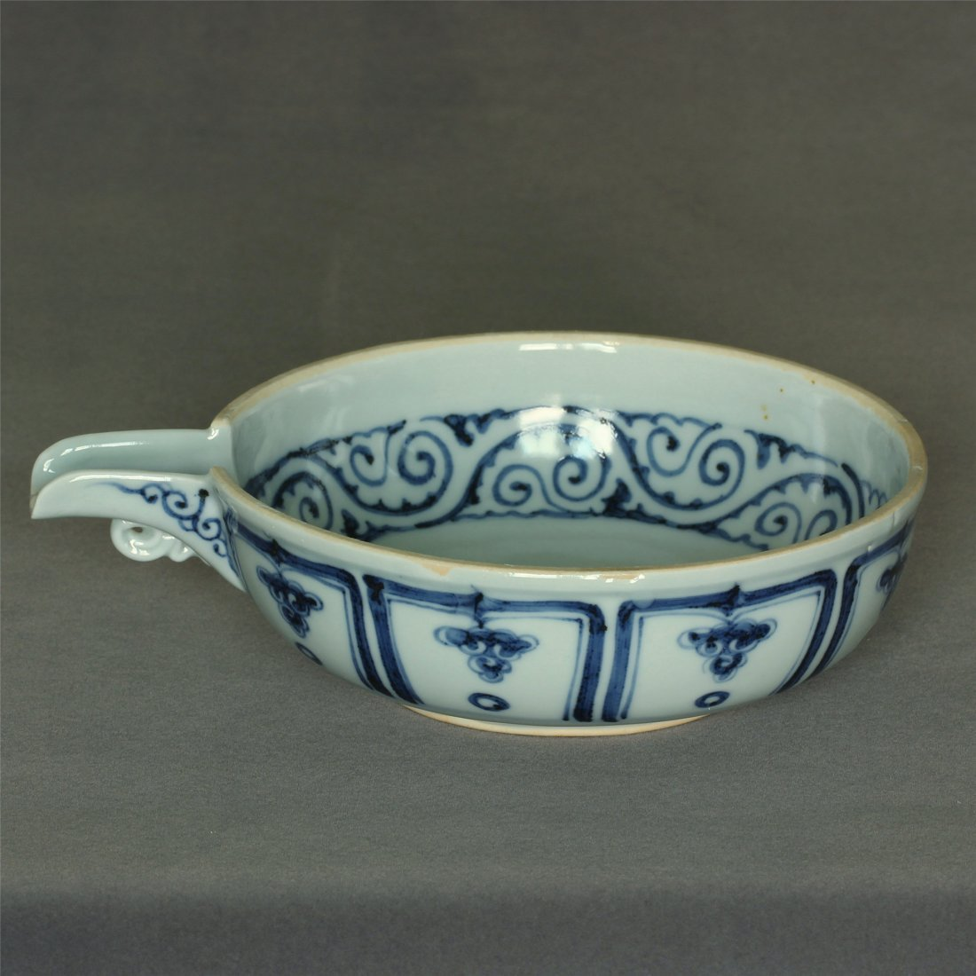 Blue And White Porcelain Bowl Yuan Dynasty.