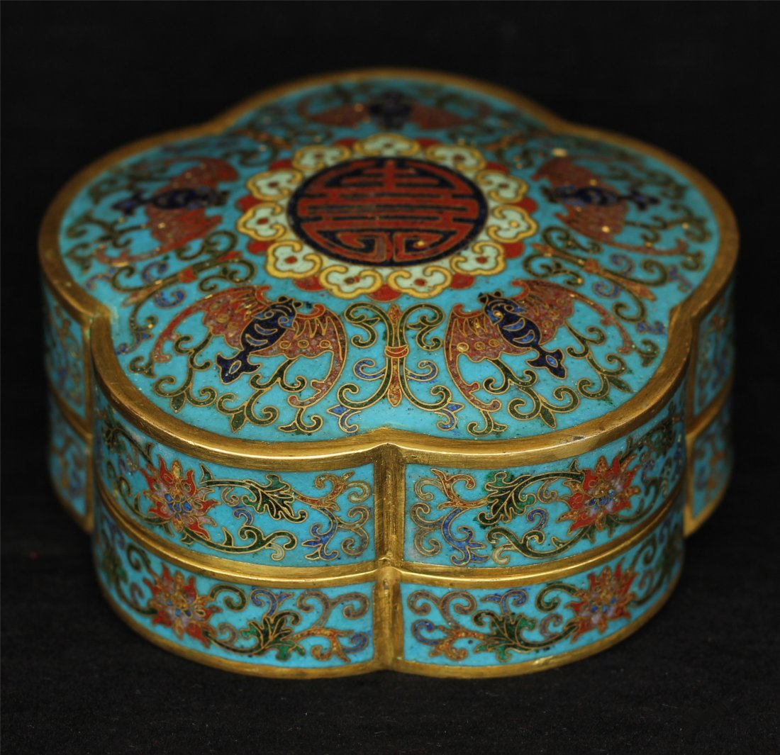 Cloisonne gilt jewelry box of Qing Dynasty QianLong