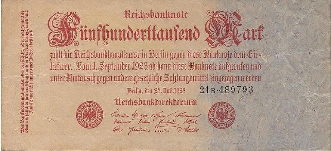 500000 MARK 1923 GERMANY