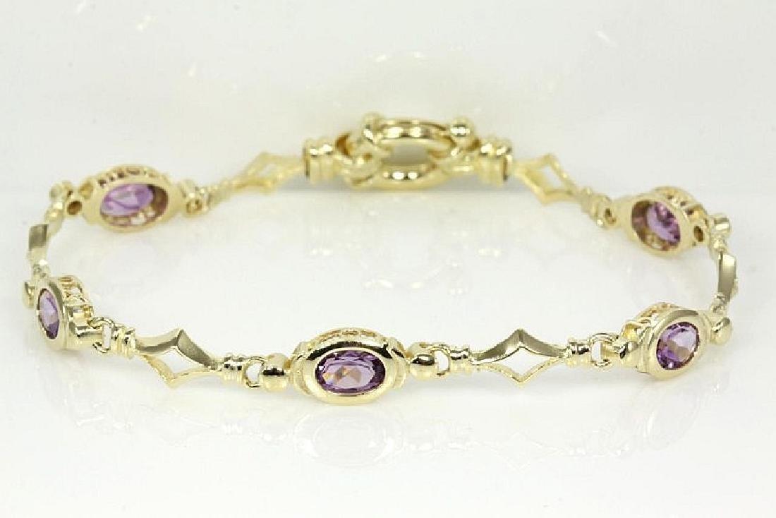 Oval Amethyst Bracelet