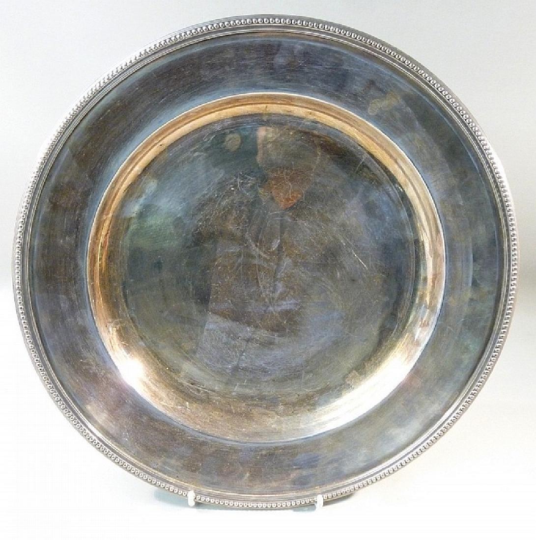 LARGE WHITE METAL DISH BY CHRISTOFLE, FRANCE GALLIA