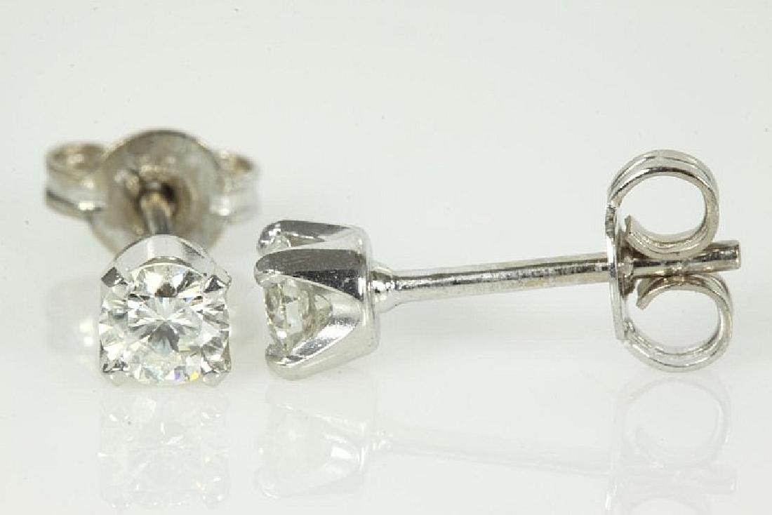 Round Diamond Stud Earrings 0.43cts