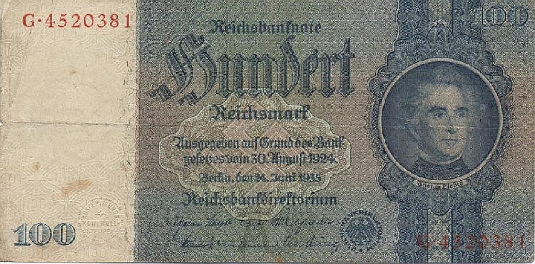 100 REICHSMARK 1935 GERMANY
