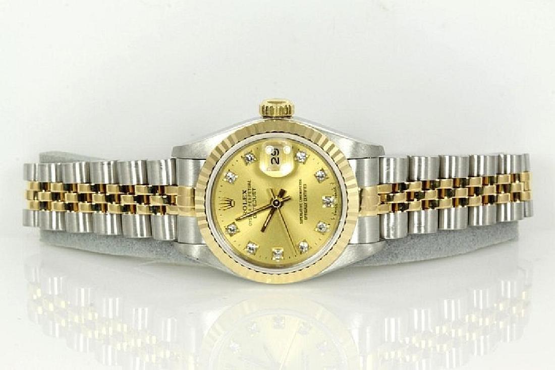 Rolex Diamond Datejust Ladies Watch 69173G