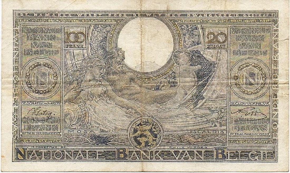 100 FRANCS - 20 BELGAS 07-10-1941 BELGIO