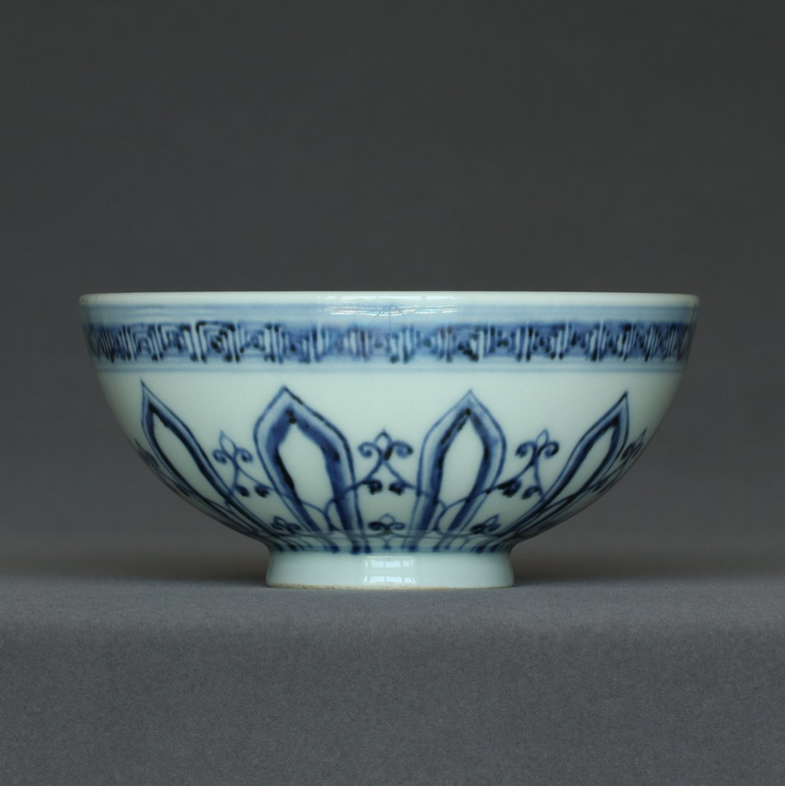 Blue and white porcelain bowl of Ming Dynasty.