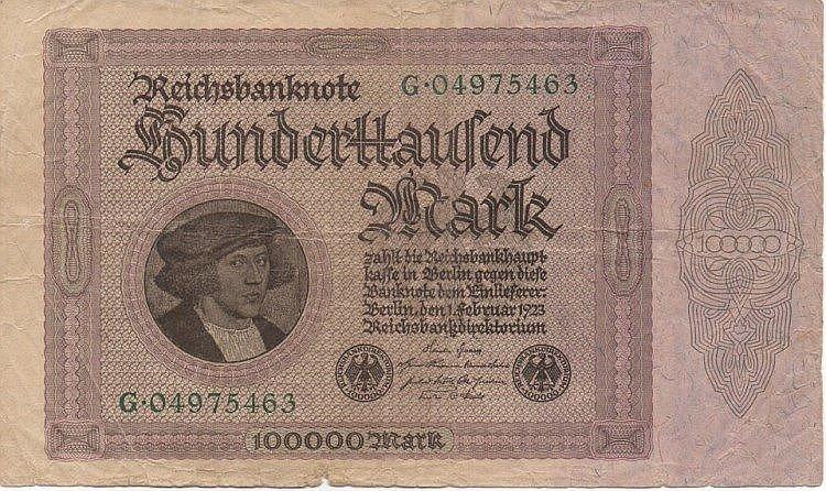 100000 MARK 1923 GERMANY