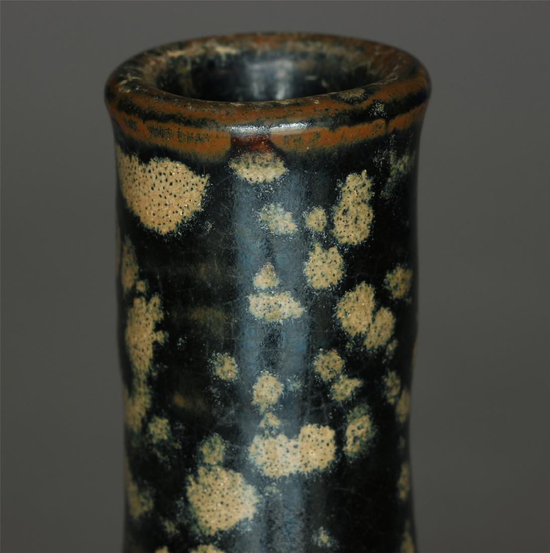 A JiZhou-Kiln Small Vase. Measure(inch), Height: 4-3/4 - 5