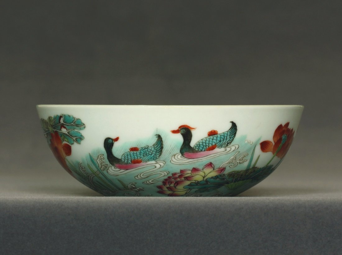 Famille rose porcelain bowl of Qing Dynasty DunMuTang