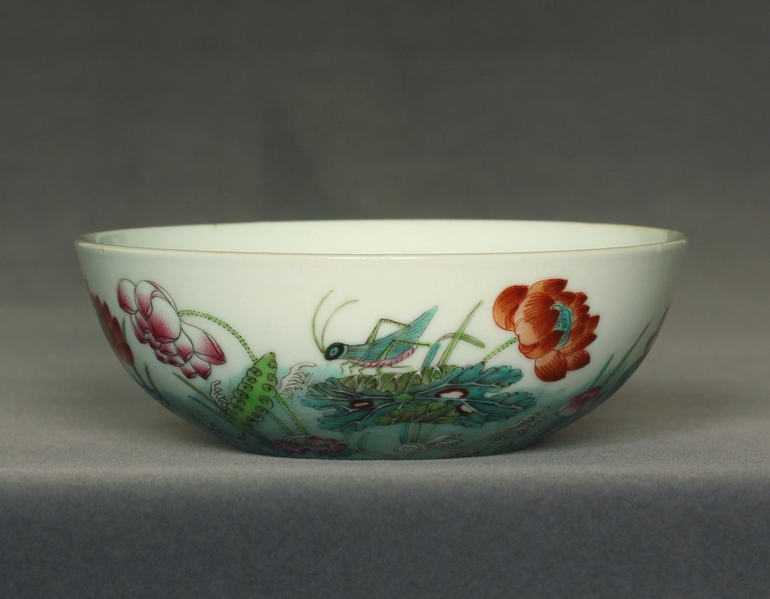 Famille rose porcelain bowl of Qing Dynasty DunMuTang - 4