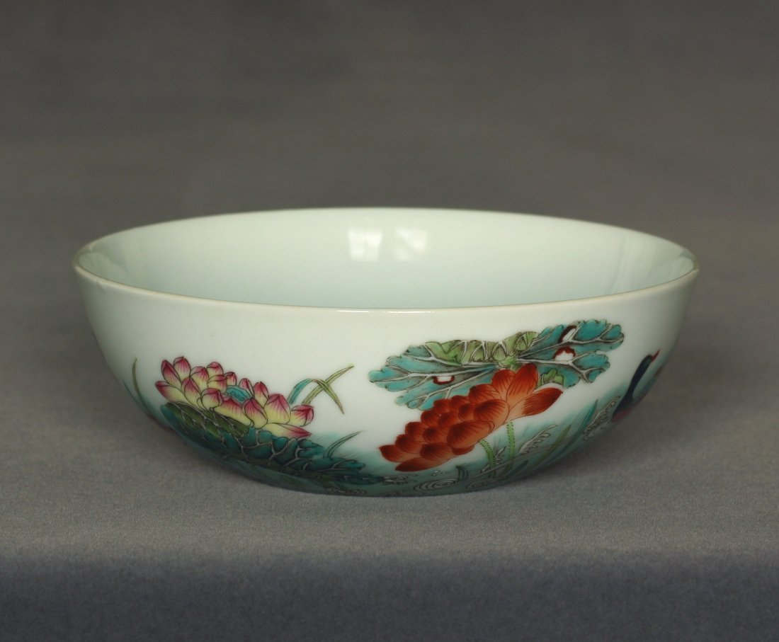 Famille rose porcelain bowl of Qing Dynasty DunMuTang - 5