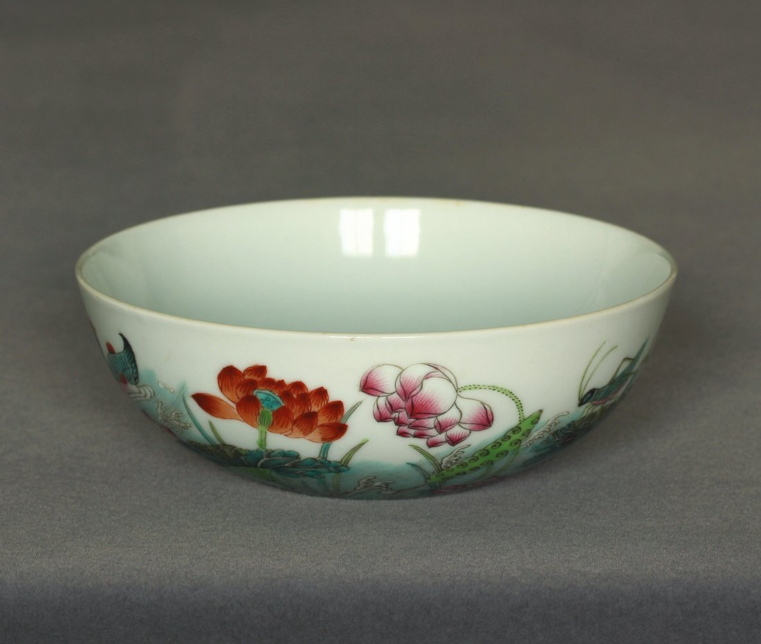 Famille rose porcelain bowl of Qing Dynasty DunMuTang - 6