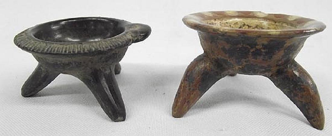 Pre-Columbian Style Pottery Miniatures, 2 Pieces. One