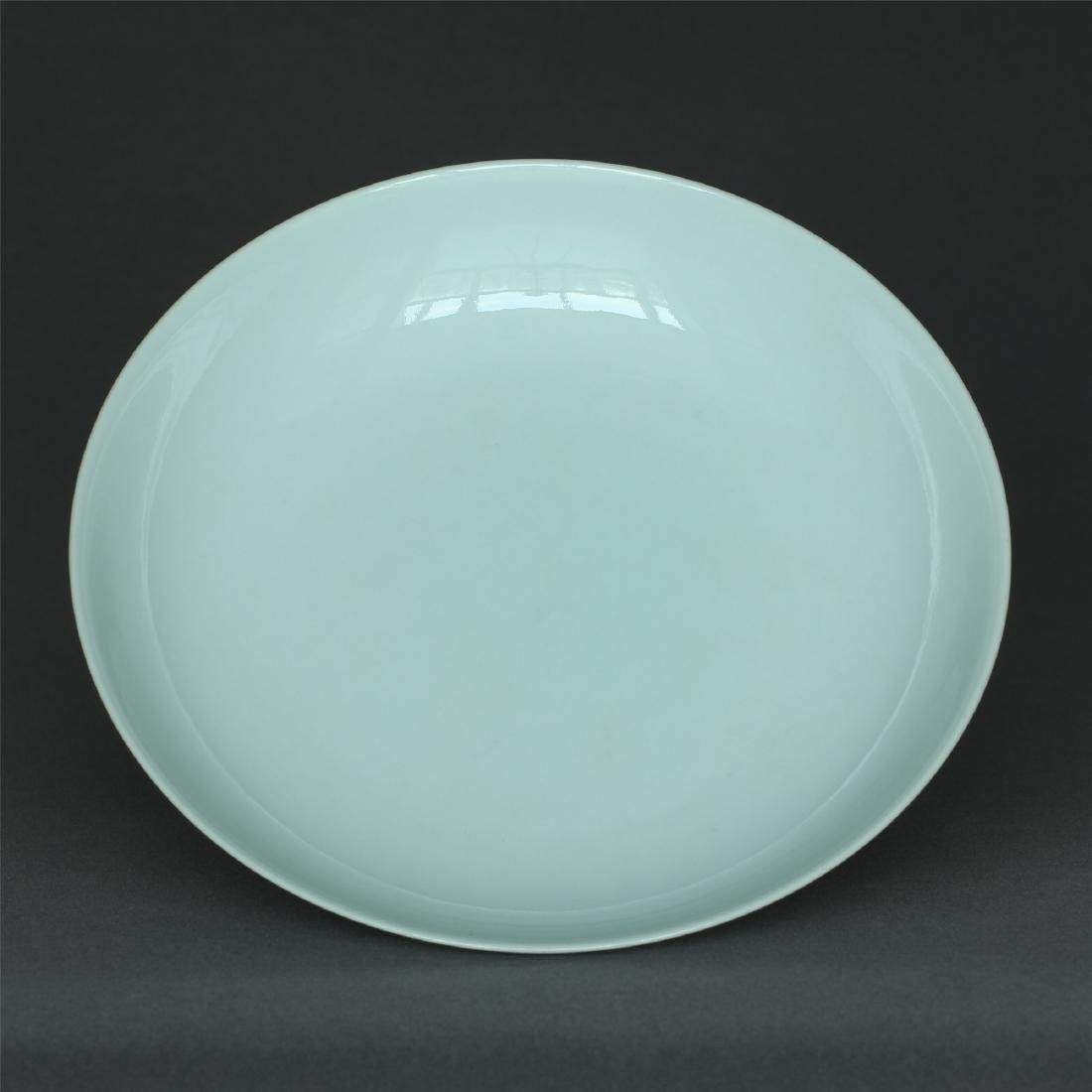 Gray glaze porcelain plate of Qing Dynasty QianLong