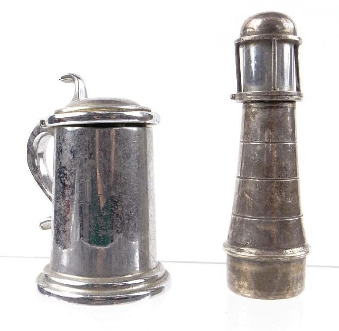 Dunhill novelty beerstein lighter together with a