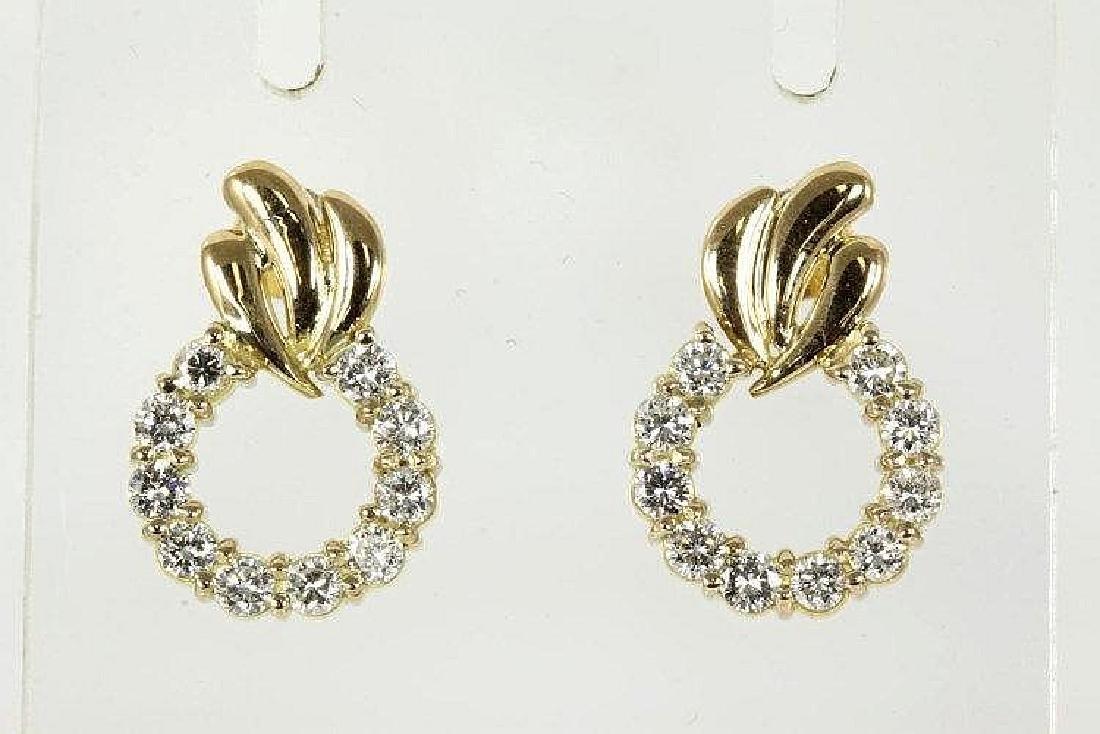 Diamond Earrings 1.01cts