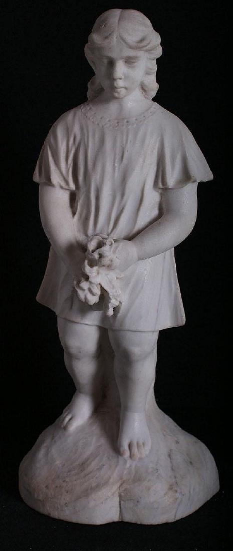 Italian School, 19/20th century, marble figure girl