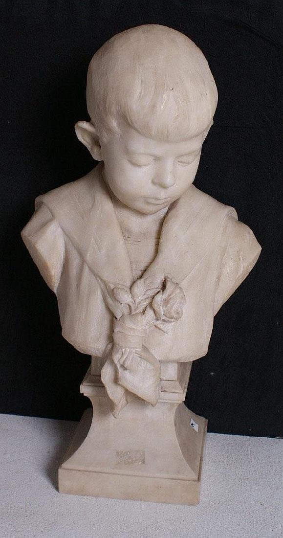 Belgium School, 19/20th century, Portrait bust on a