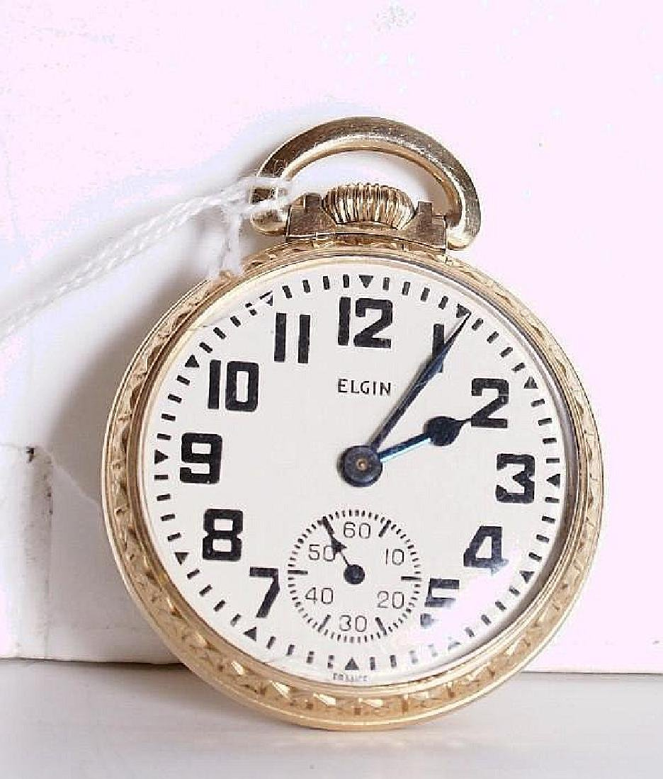 Elgin open face pocket watch,